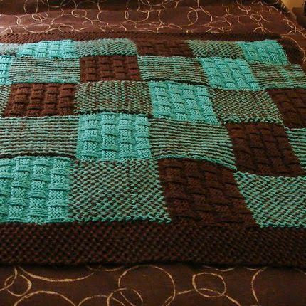 Little Johnny\'s Patchwork Blankie - Free Pattern | Knit One Purl One ...