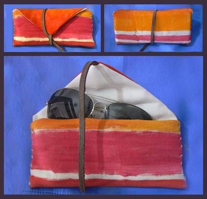 portalentes pintado a mano, con detalles en cuero