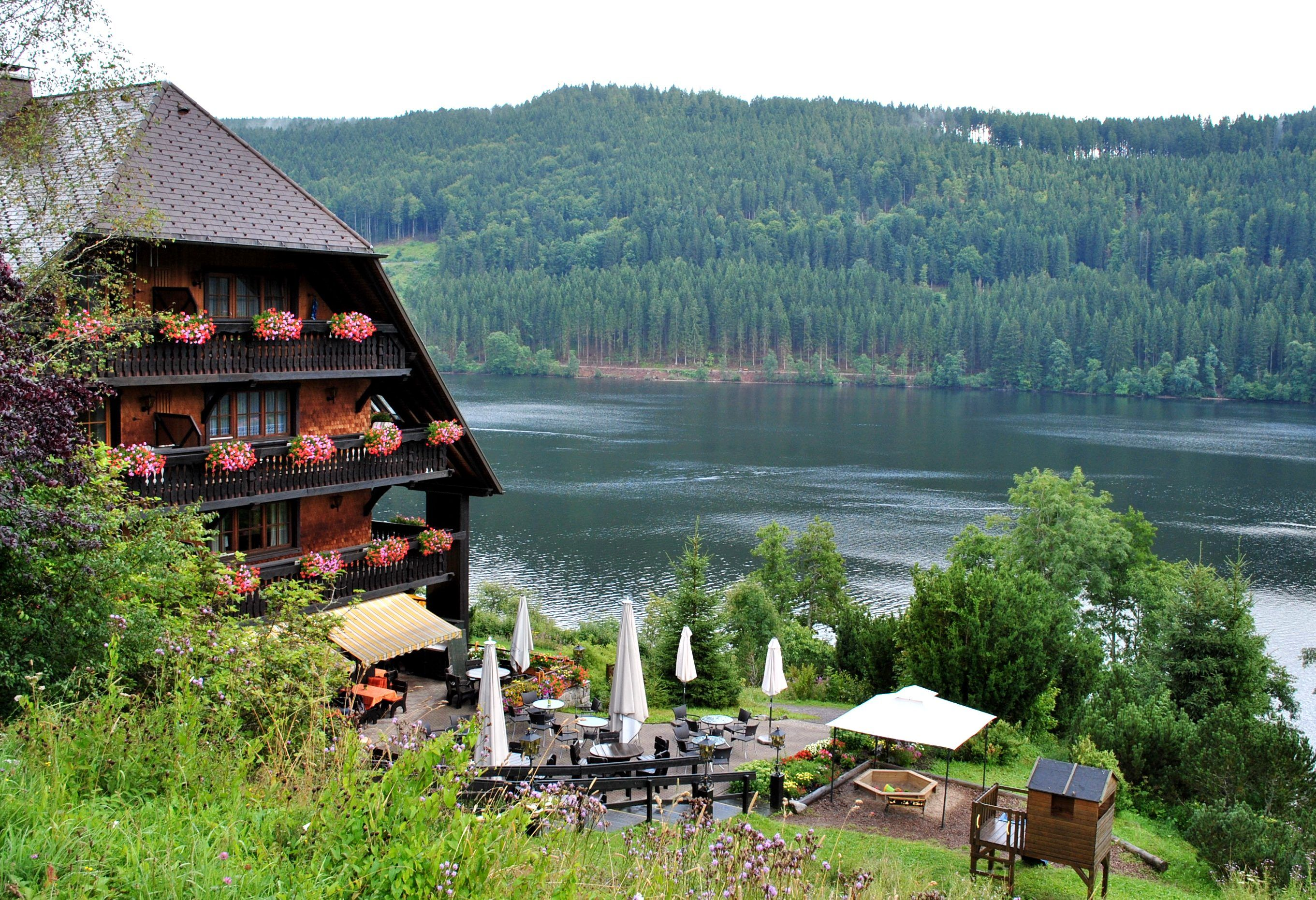 Lake Titisee, Black Forest - GERMANY  -  Would love to have lunch here...
