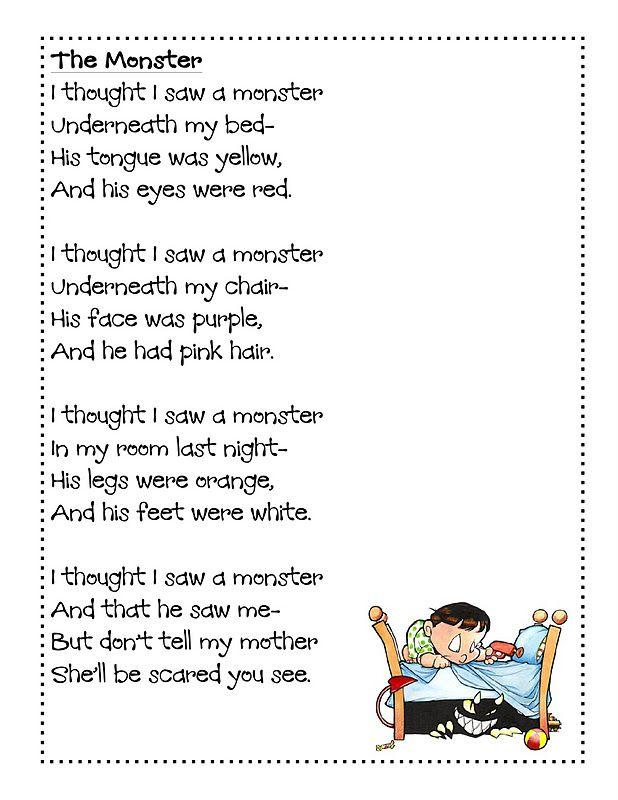 halloween poems for kids - Google Search | Halloween | Pinterest ...