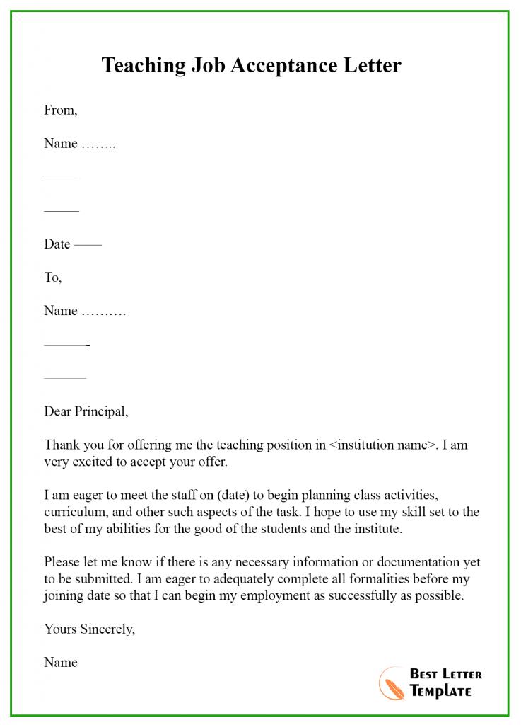 Job Offer Letter Format en 2020