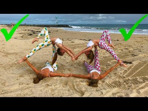extreme yoga challenge big sisters vs little sisters  the