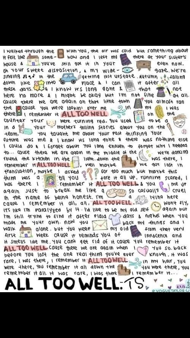 Taylor Swift All Too Well Love Is A 4 Letter Word Pinterest