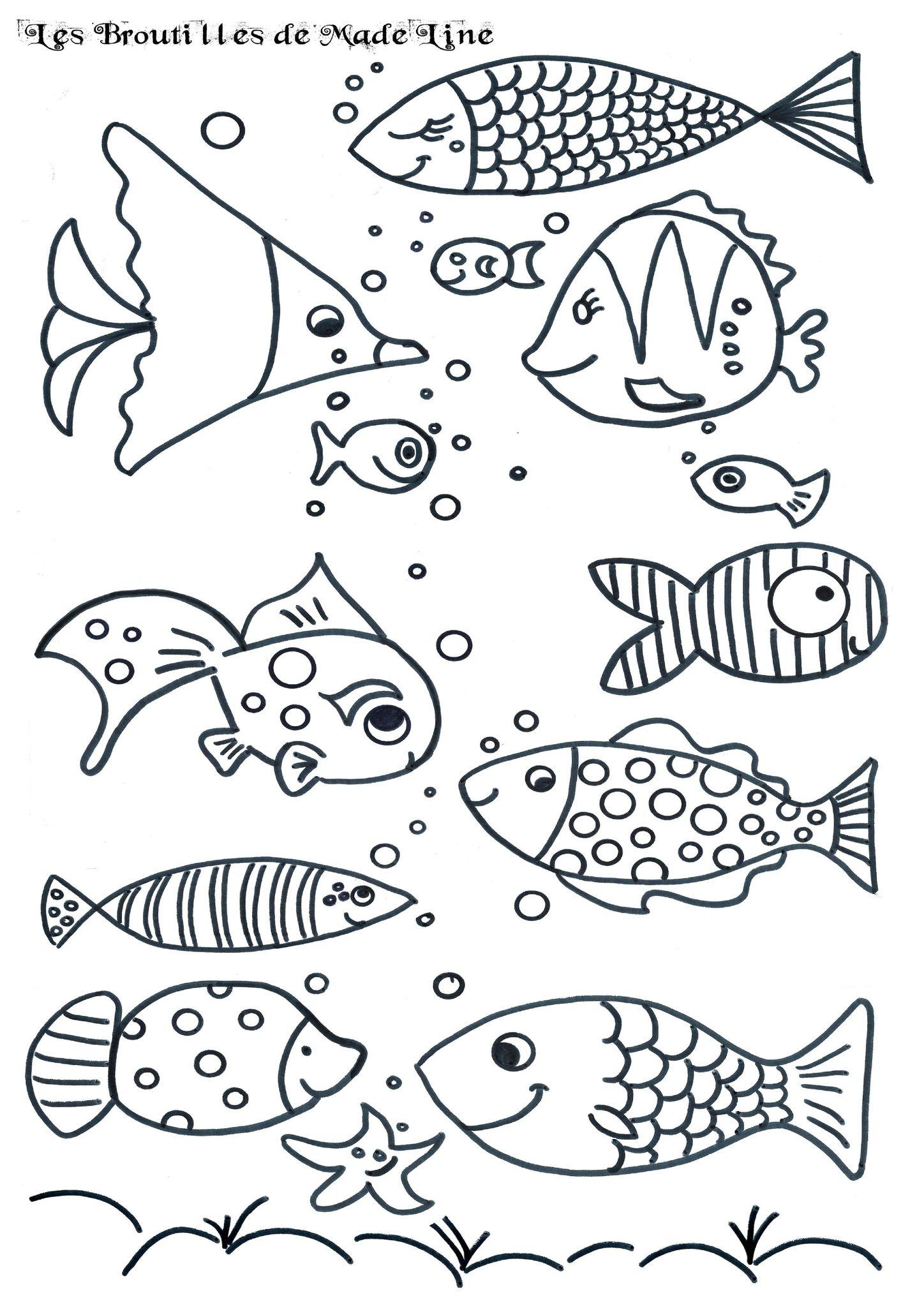 Poisson d'avril à imprimer! - Les broutilles de Made'Line | Water Projects For Kids | Fish art ...