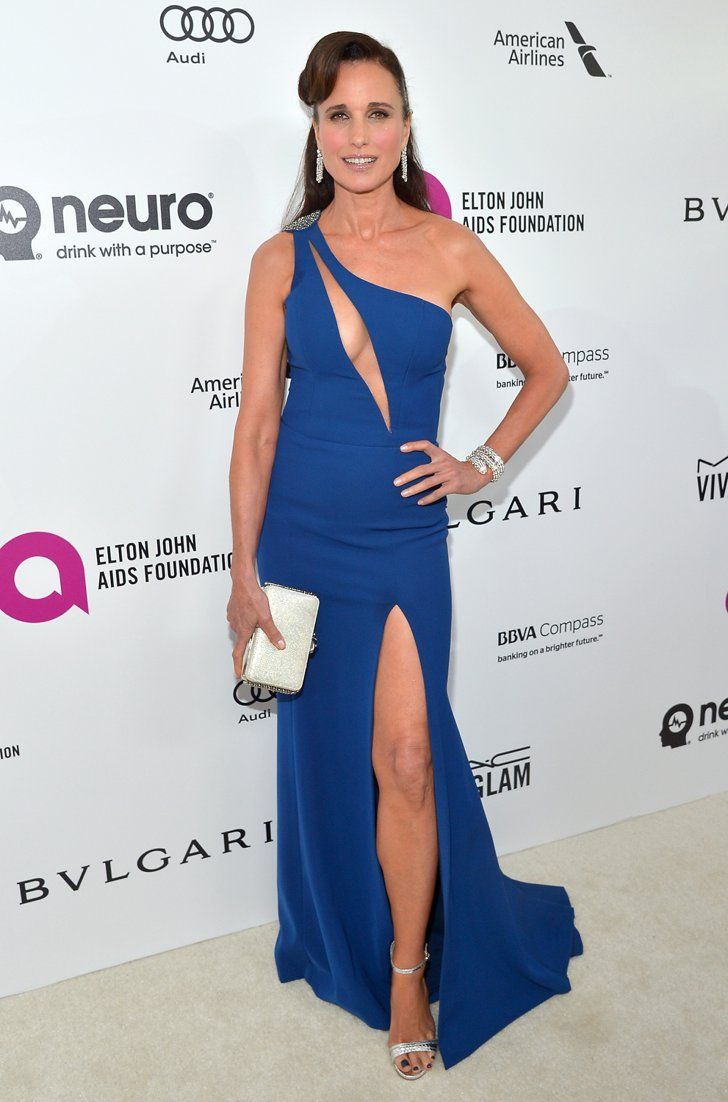 Pin for Later: Don't Miss 1 Single Look From the Oscars Afterparties Andie MacDowell Wearing Davidson Zanine at Elton John's AIDS Foundation Oscars viewing party.