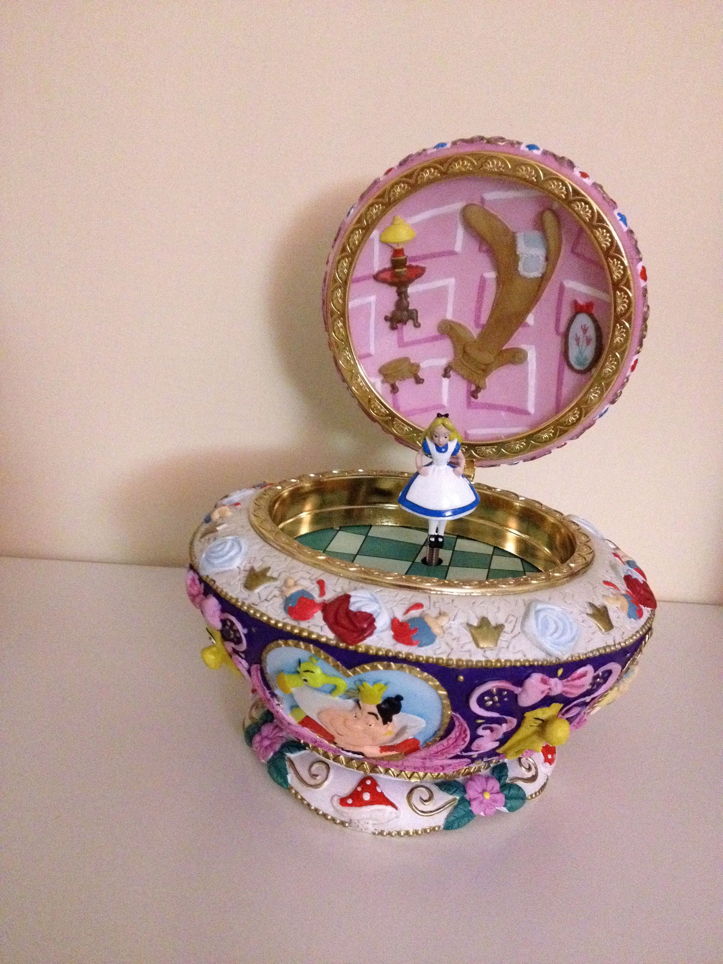 Disney Music Box Musical Jewelry Alice In Wonderland Disney Jewelry Disney Music Box Music Box
