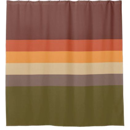 Autumn Colors Red Orange Yellow Tan Green Brown Shower Curtain