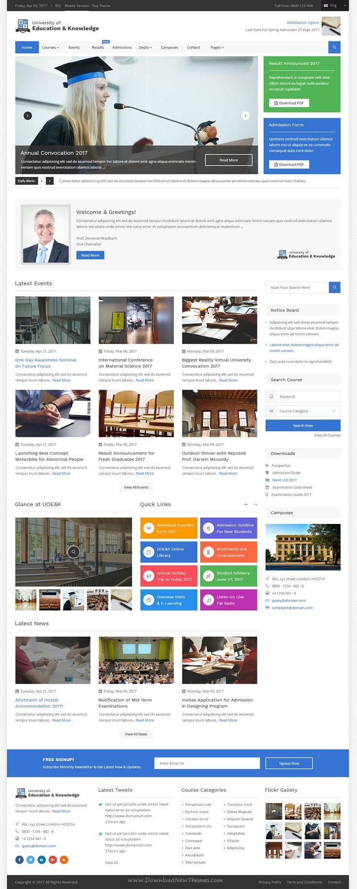 Education And Knowledge Is A Clean And Contemporary Psd Template For University College And School Education Templates Colleges And Universities Education