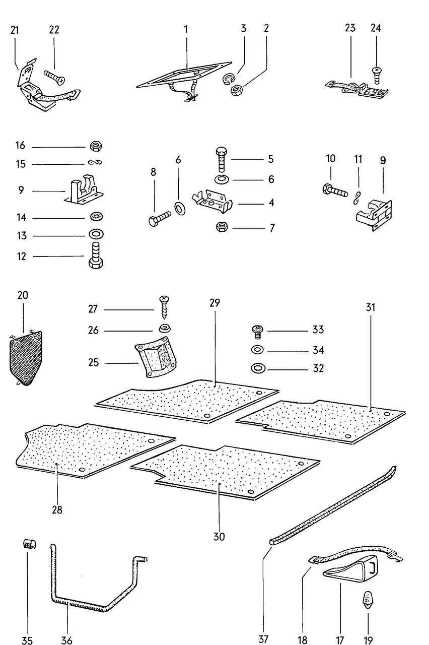 Rubber floor mats with holes + free swiss cheese glove mat