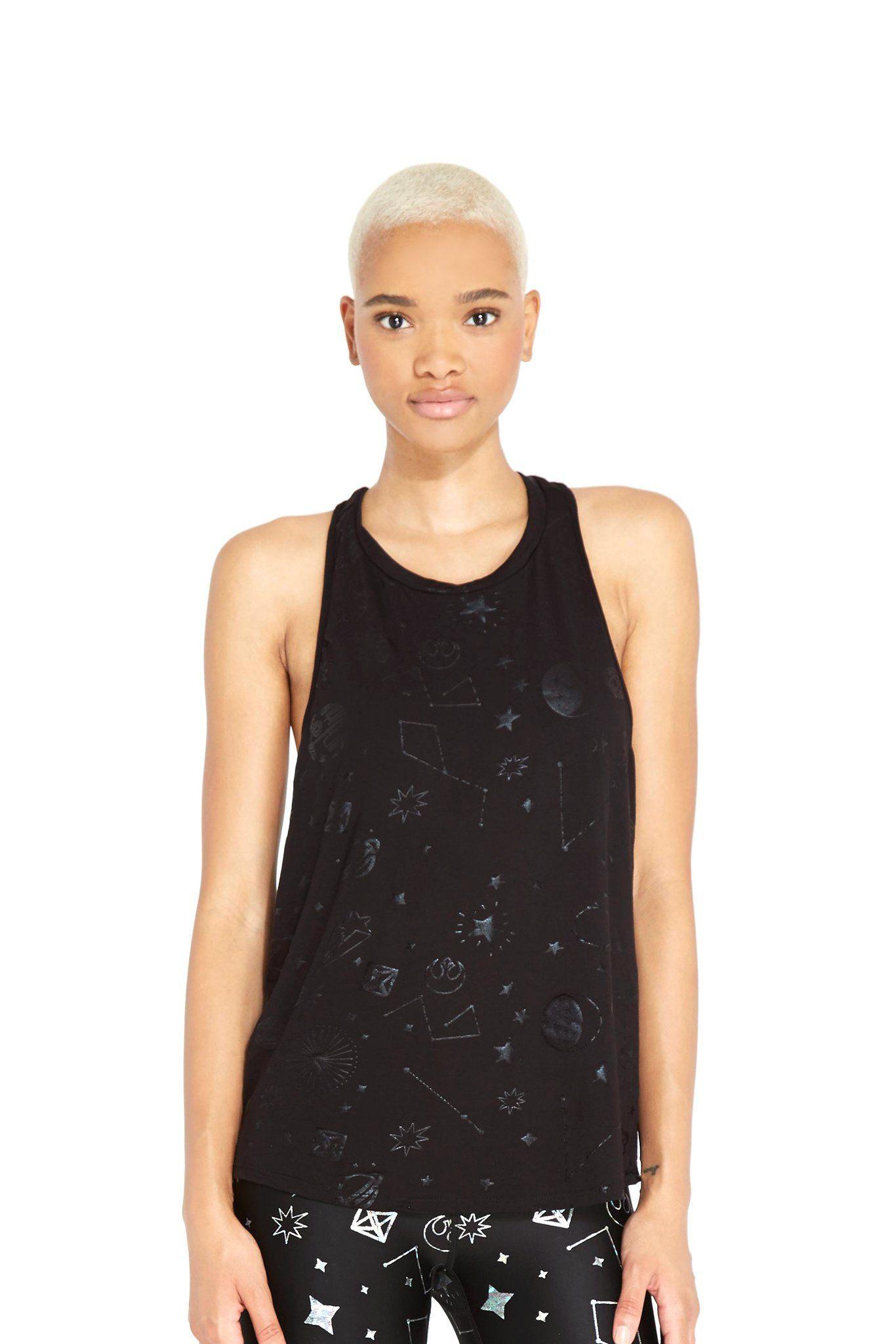 cf90f759c2697 Women's Terez x Star Wars Rebel Galaxy Foil Racerback Tank ⭐️The Kessel  Runway ⭐ Star Wars fashion ⭐ Geek Fashion ⭐ Star Wars Style ⭐ Geek ...