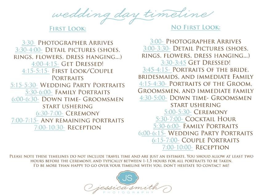Yes But Everything 1 Hr Earlier?? Wedding Day Timeline 4Pm