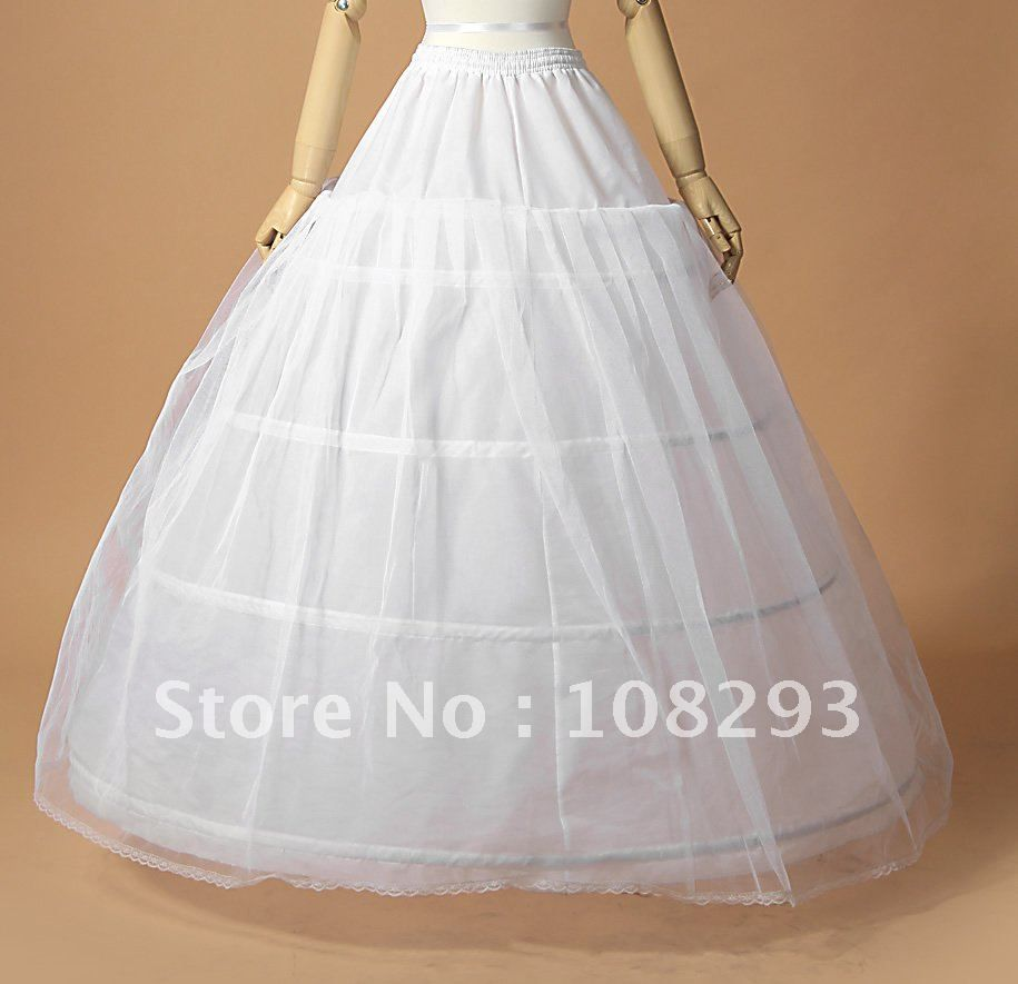 Crinoline Petticoat Suppliers Wholesale 3 Hoops One Layer Tulle For Ball GownWedding Dress White Jupon Mariage In Stock Wedding