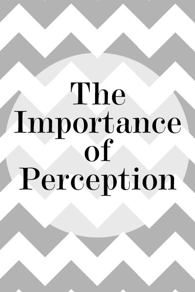 importance of perception