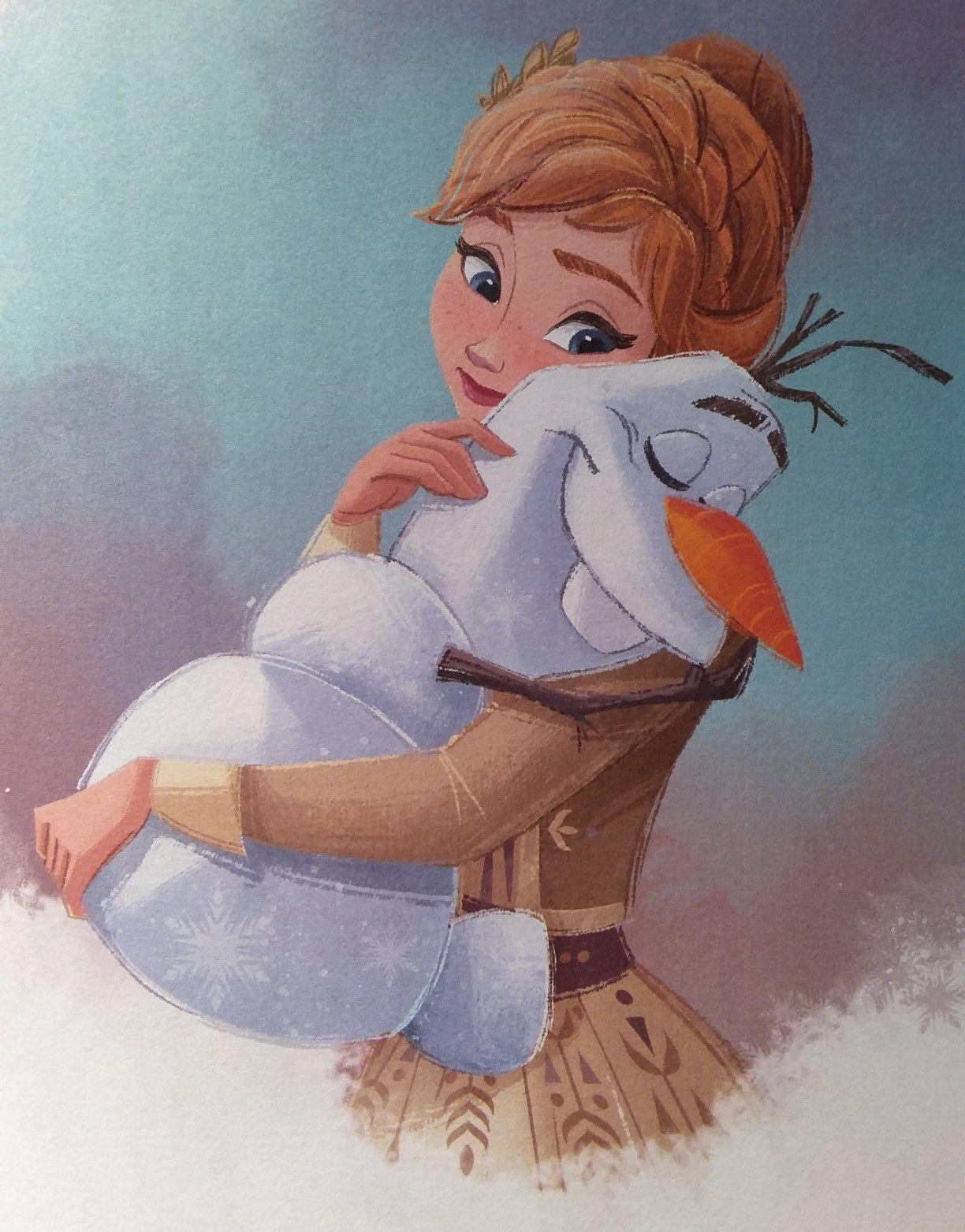 Frozen 2 Anna And Olaf Hugging Disney Princess Drawings Frozen Disney Movie Disney Princess Pictures