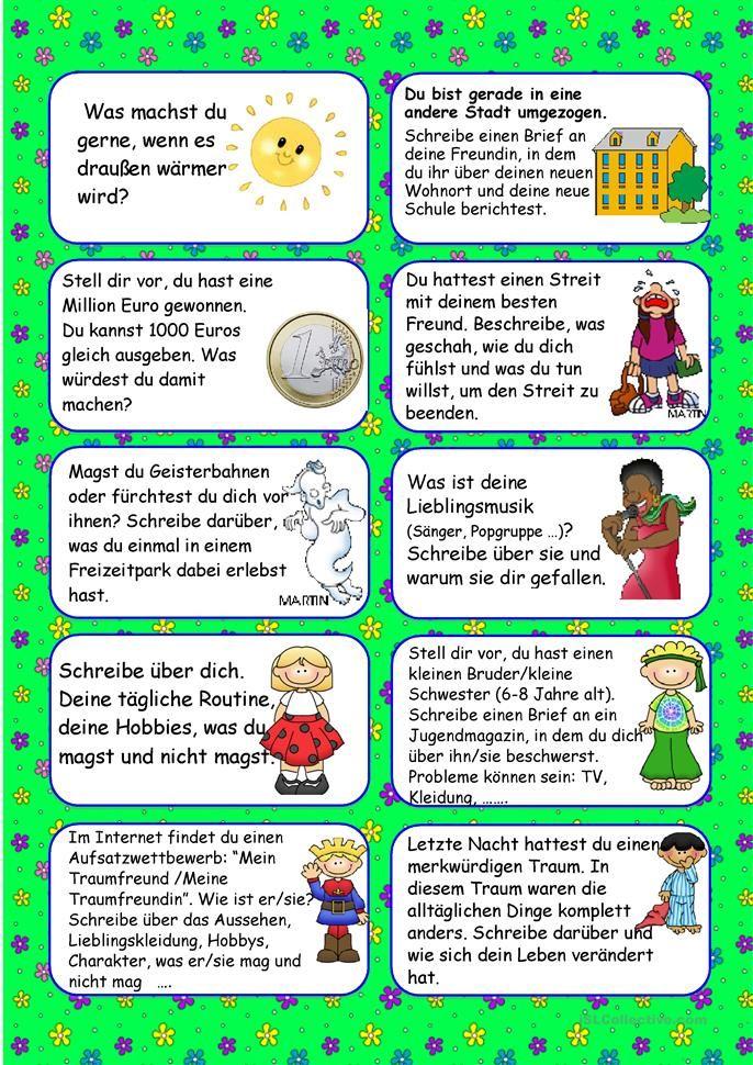 20 Schreibideen für Mai | Unterricht | Pinterest | Schule, Deutsch ...
