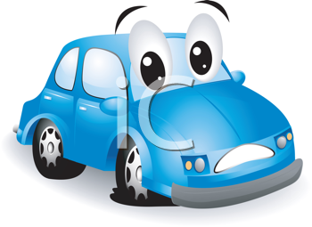 Iclipart Royalty Free Clipart Image Of A Cartoon Car With A Flat