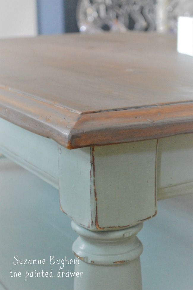 Country To Beach Chic Coffee Table Makeover Coffee Table