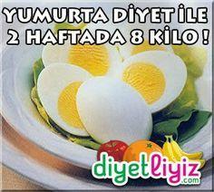 Yumurta Diyeti ile 2 Haftada 8 Kilo Verin !