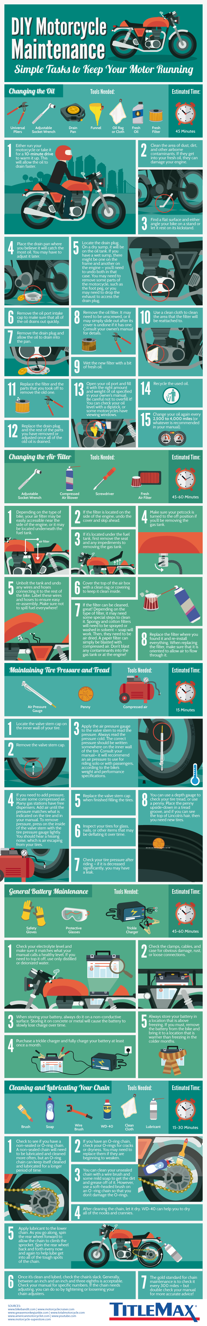 DIY Motorcycle Maintenance #infographic