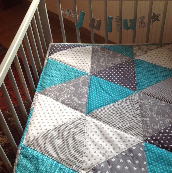 babydecke babyquilt kuscheldecke von laloeff auf babyzimmer n hen baby baby. Black Bedroom Furniture Sets. Home Design Ideas
