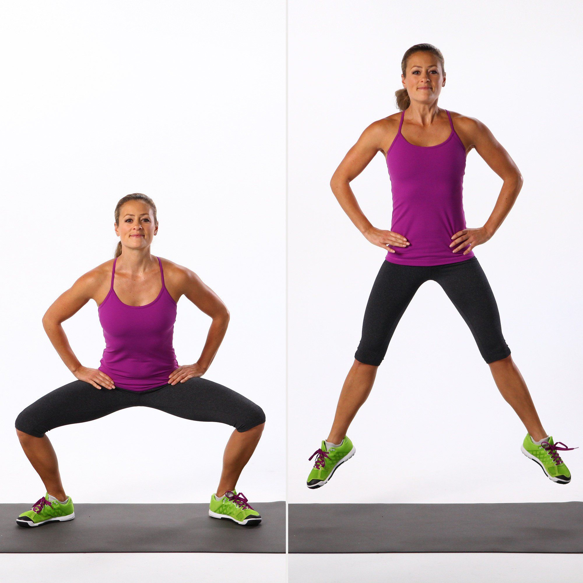 Image result for woman doing sumo squat jump