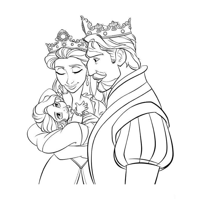 coloriage princesse disney raiponce coloriages - Coloriage Princesse Disney