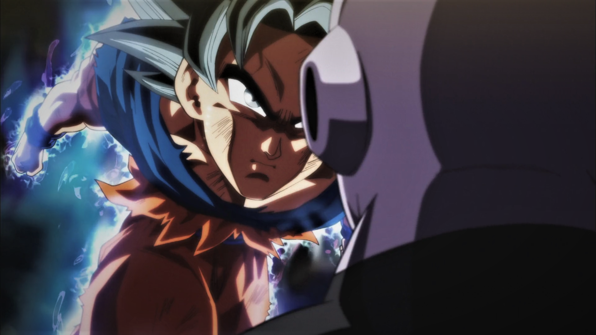 Anime 1920x1080 Super Saiyan Blue Dbs Son Goku Dragon Ball Super Jiren El Gris Dragon Ball Dragon Ball Super Anime Dragon Ball Dragon Ball Super Goku