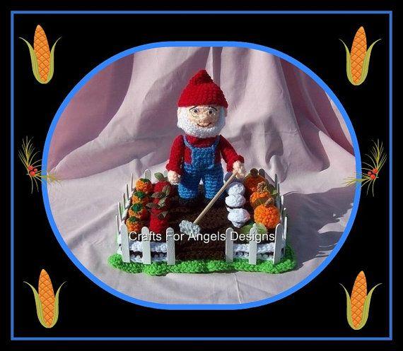 Mike The Farmer Gnome.Crochet Pattern. $6.95, via Etsy.   Crochet ...