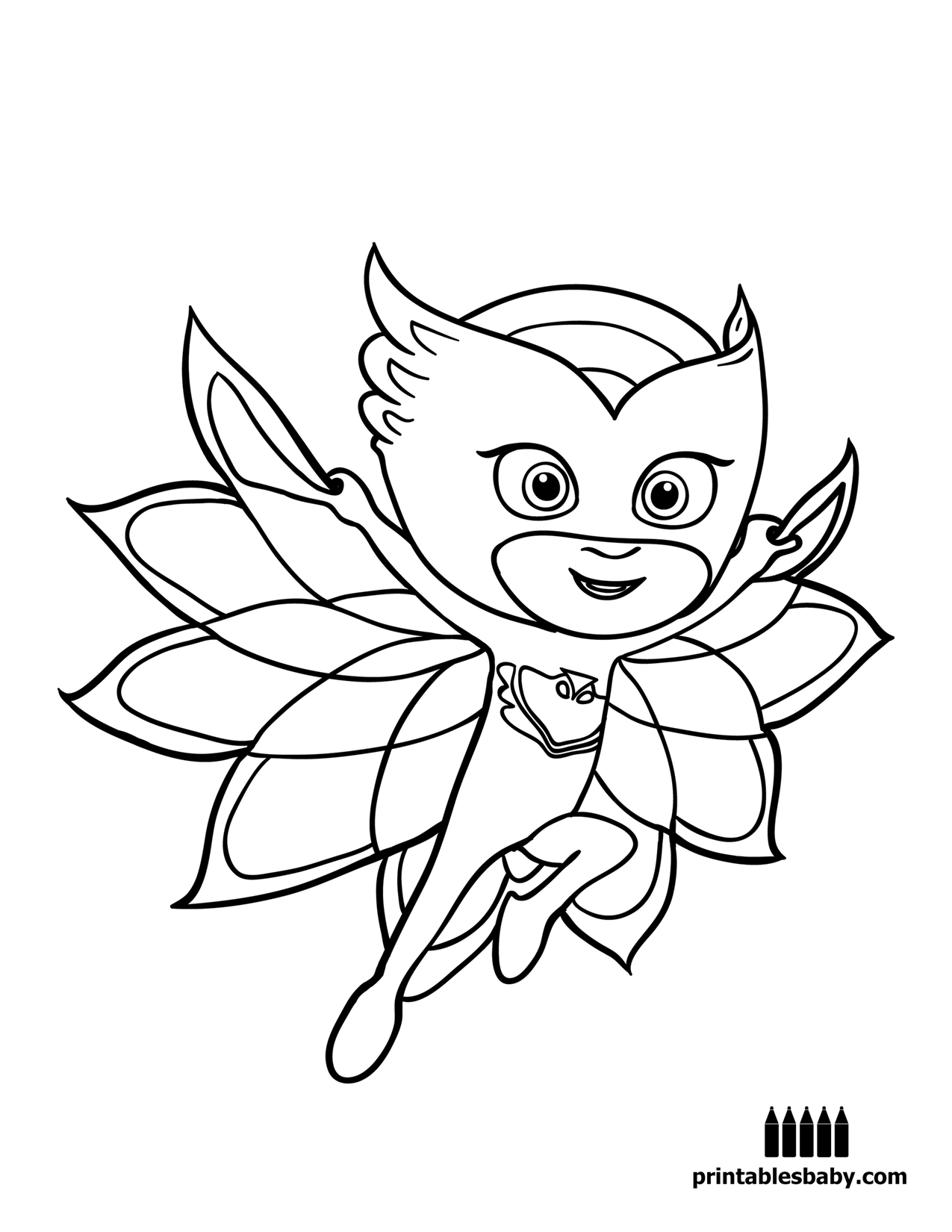Free coloring pages pj masks - Pj Masks Printables Baby Free Cartoon Coloring Pages