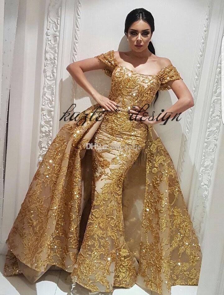 Yousef Aljasmi Evening wear Dresses Mermaid Prom Dress with Gold ...