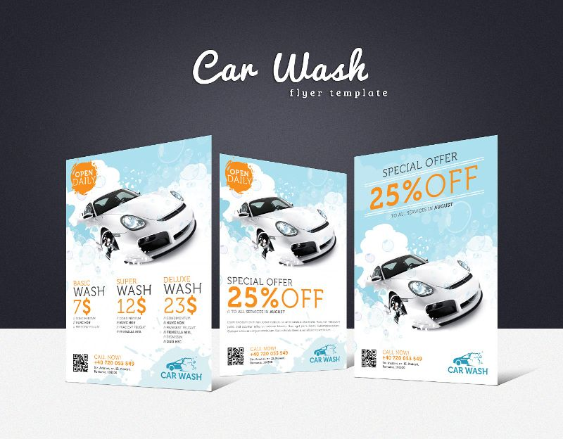 Car Wash Flyer  Creative Flyers Car Wash And Flyer Template