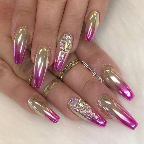 Luxury Gold Nails Designs Its Very Difficult To Keep All Modern