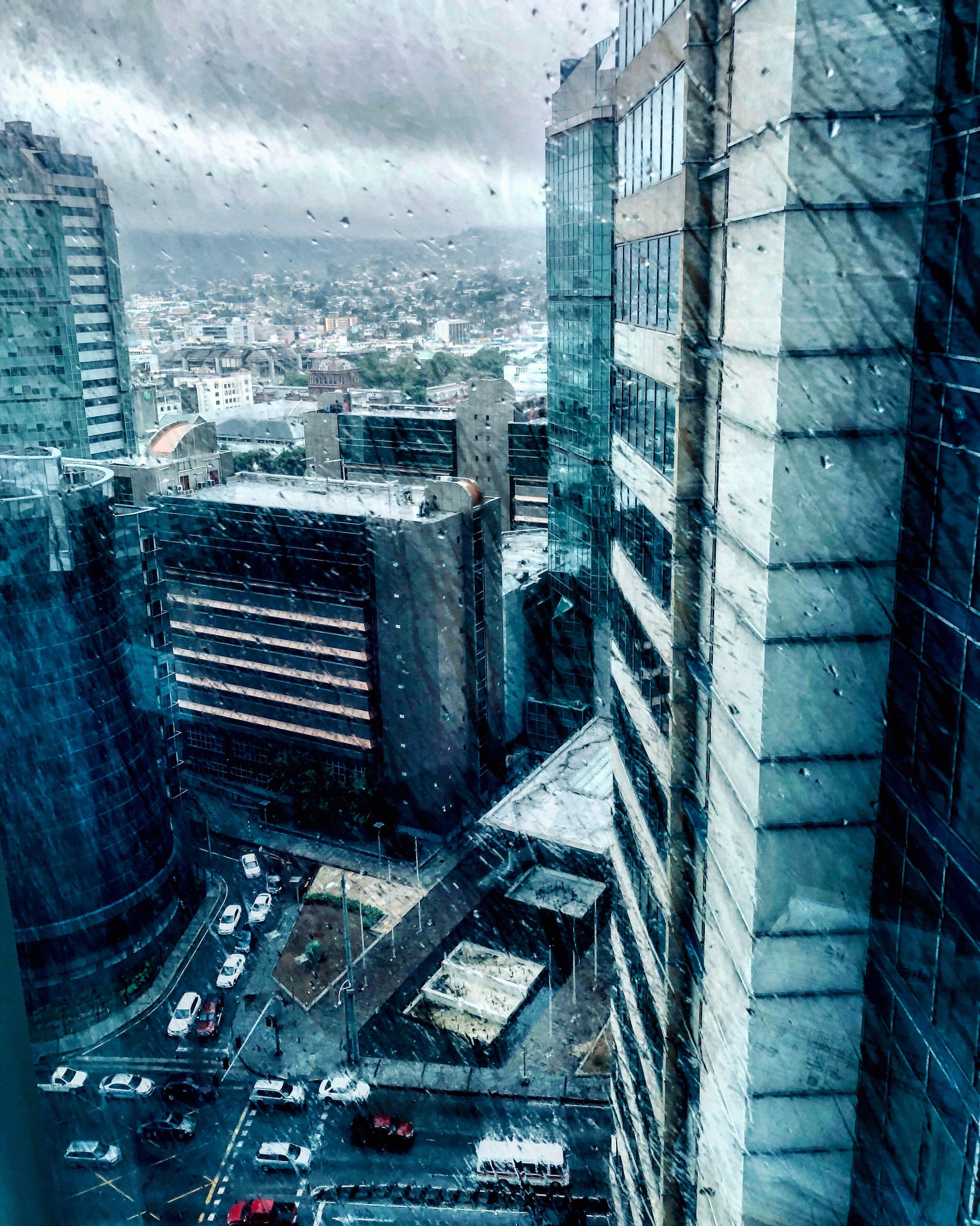 Rainy City, Beautiful Art, Skyscraper