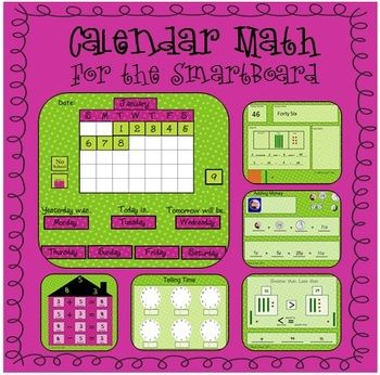 This morning meeting SmartBoard notebook allows for daily calendar math to take place (without taking up a lot of wall space).  It also allows you ...