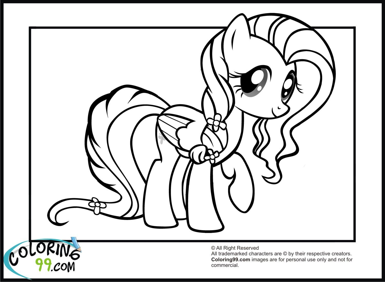 My Little Pony Fluttershy Coloring Pages Minister Coloring ...