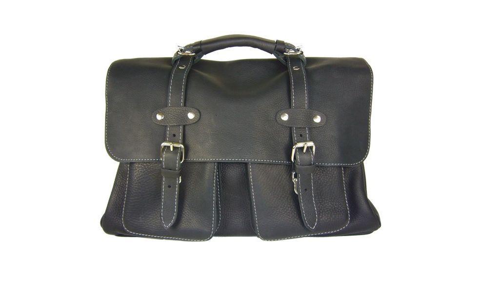 8a39fc8c36 *Grand sac 48h vintage homme 7229 cuir noir de la marque Cuir & terre, made  in France