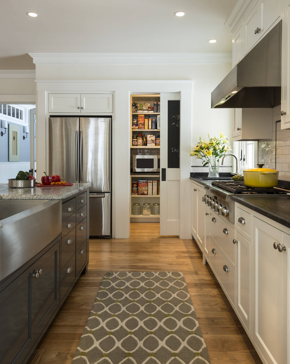 Stonewall Farmhouse Traditional Kitchen Portland Maine By Whitten Architects In 2020 Galley Kitchen Design Galley Kitchen Remodel Kitchen Designs Layout