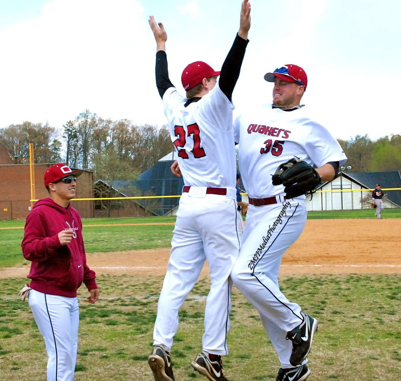 Guilford College Baseball Gets Their High Five On College Athletics Guilford College College Baseball