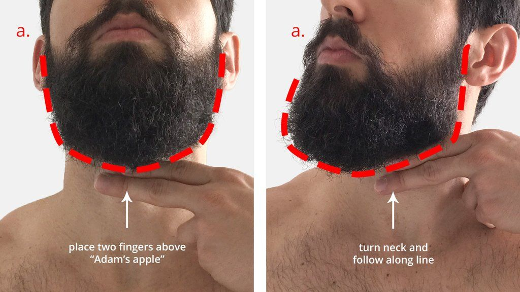 How To Trim Your Beard Neckline Trimming Your Beard Beard Neckline Beard Trimming Styles