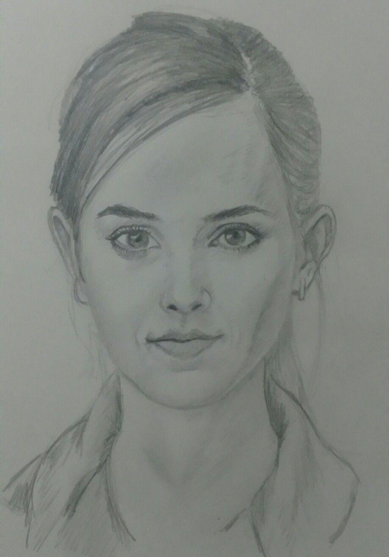 Beautiful pencil sketch of emma watson pencil drawing in 2019