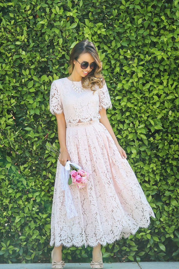 35 Ways to Wear Lace Like a Street Style Star   Long sleeve ...