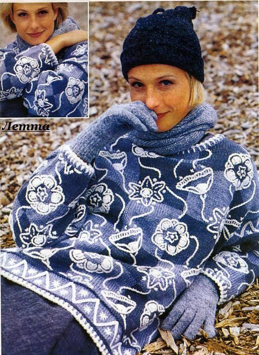 """Пуловер """"Затейливые цветы"""". Обсуждение на LiveInternet - Российский Сервис Онлайн-Дневников"""