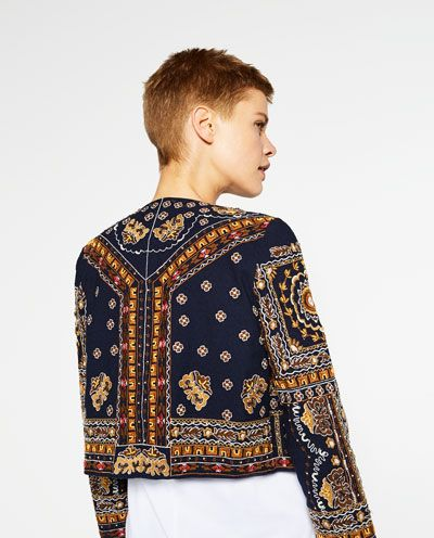 7cc237d28ce9 EMBROIDERED JACKET-BLAZERS-WOMAN