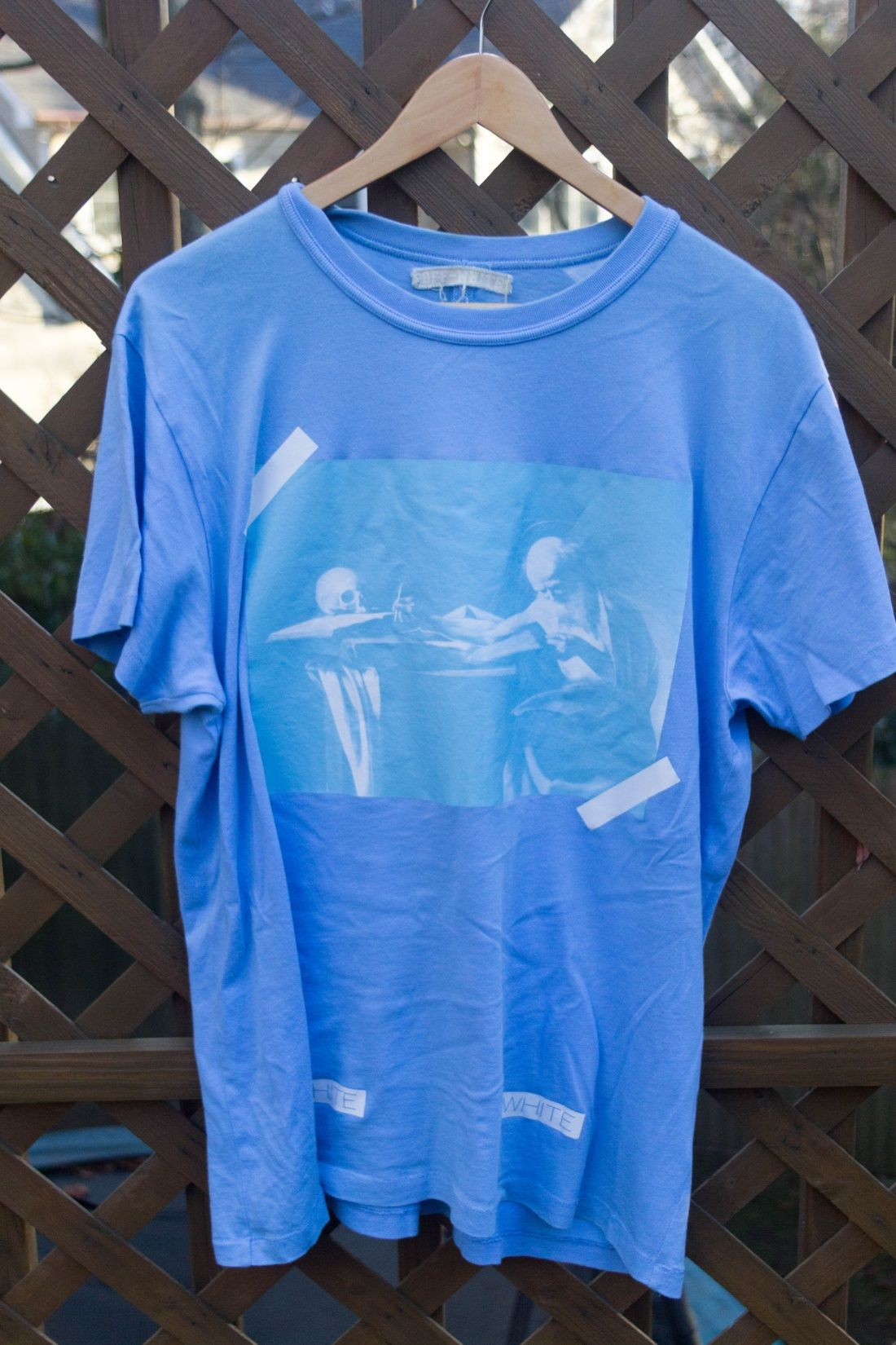 Off White Og Blue Caravaggio Tee Size S 162 Tees Mens Tops Tops