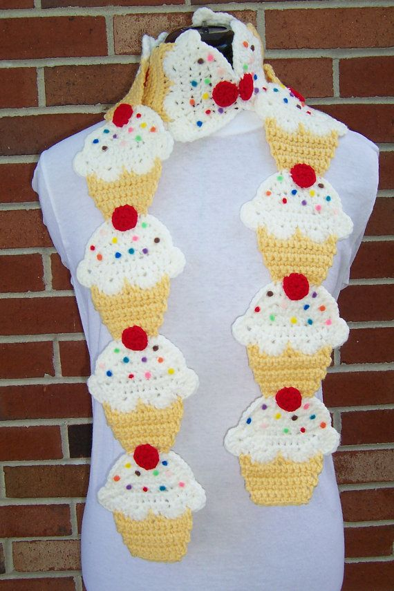 CROCHET Couture Cupcake Scarf PATTERN by FiercePixyBoutique, $7.00