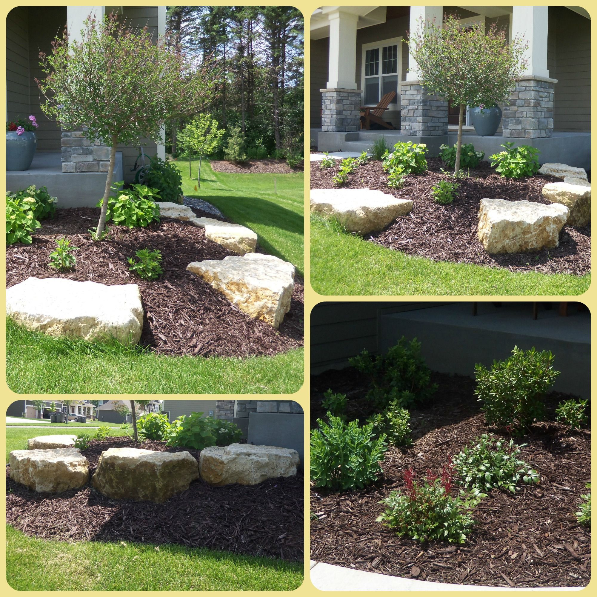 Outcropping Boulders Front Landscaping Garden Landscaping Front Yard Landscaping