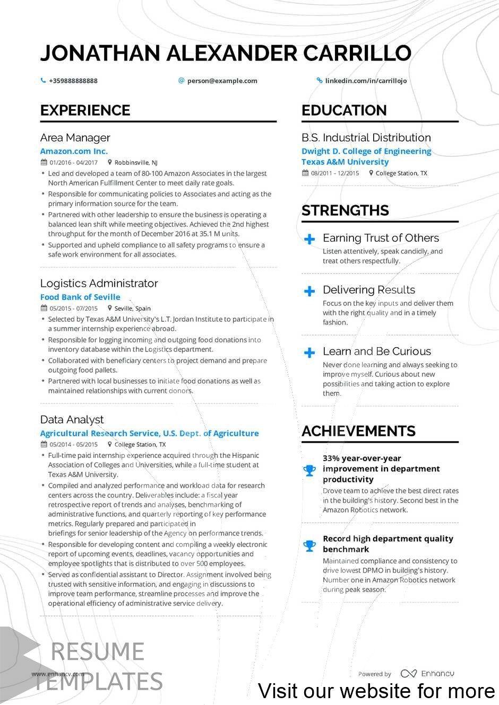 resume template free word Best 2020 in 2020 Resume