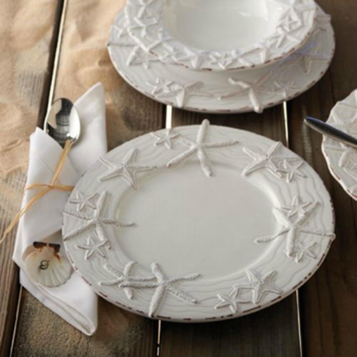 Star Fish Dinner Plates set of 4 & Star Fish Dinner Plates set of 4 | Party night platters | Pinterest ...