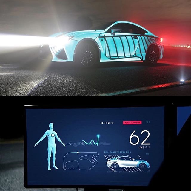 440907583e LEXUS develops car that displays driver s heartbeat while racing to visual  the heart pounding experience the