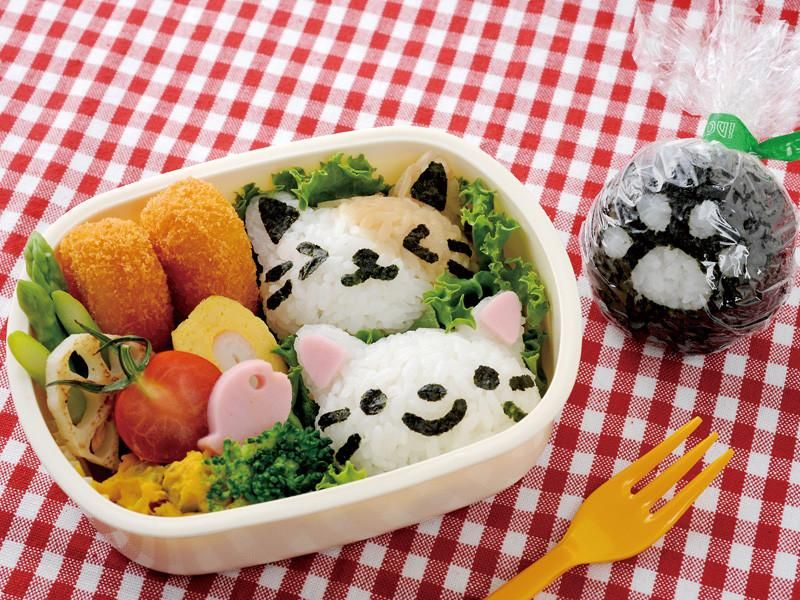New 1Set Mould Rice Panda Shape DIY Sushi Tool Onigiri Mold Cute Bento